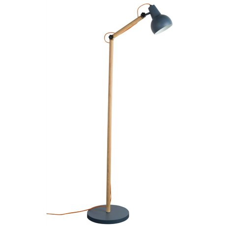 Zuiver Stehlampe Study Holz Metall dunkelgrau 59,5x30x166cm