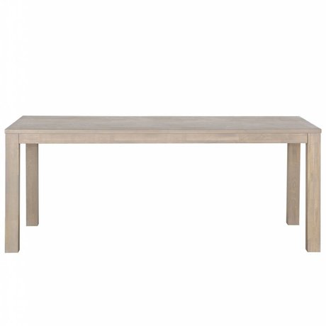 LEF collections Stained oak dining table Largo graying 230x90x78cm