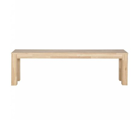 LEF collections Bench Largo Eiche natur Öl 160x30x46cm