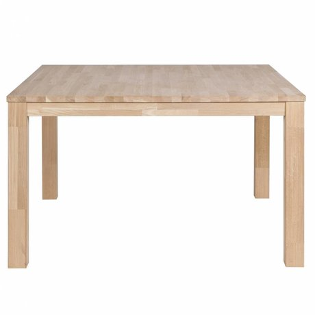 LEF collections Largo untreated oak dining table 130x130x78cm