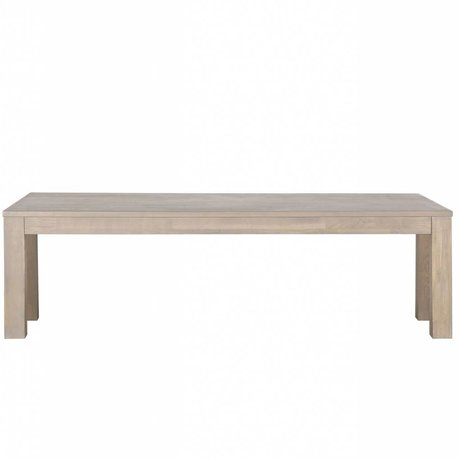 LEF collections Stained oak bench Largo graying 160x30x46cm
