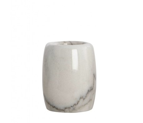 Housedoctor Toothbrush holder Marble gray ø7,4x10cm