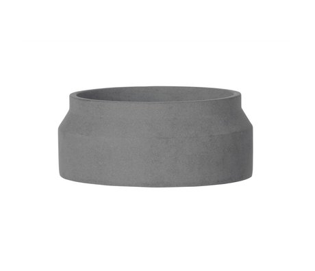Ferm Living Pot plant for small dark gray concrete ø20x8,5cm