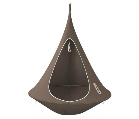 Cacoon Hangstoel tent Single first-person taupe brown 150x150cm