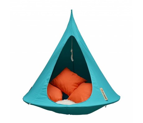 Cacoon Hangstoel Zelt Einzel First-Person-tuquoise blau 150x150cm