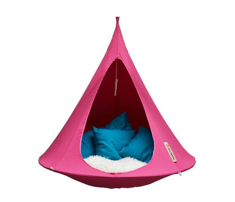 Cacoon Tente Hangstoel simple 1 chambre double 150x150cm rose fuchsia