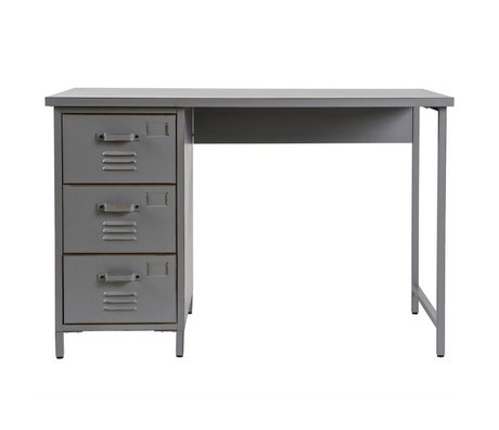 LEF collections Office Max 110x55X73cm de métal gris