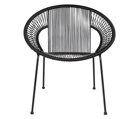 LEF collections Armchair / Garden chair Cocktail black 65x69x73cm