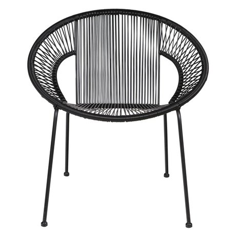 LEF collections Chair Cocktail schwarz 65x69x73cm