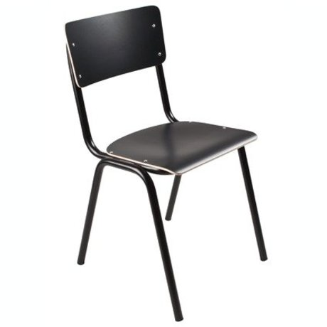 Zuiver Chair Back to school black 43x38x83