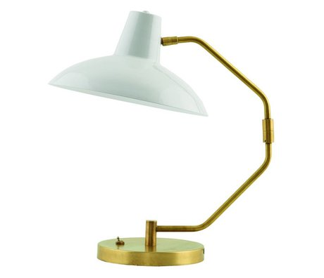 Housedoctor Table Lamp Desk metallic gray matt gold ø31x48cm