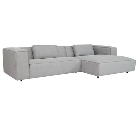 FEST Amsterdam Bank 'Dunbar' light gray Sydney91 two-seater divan and left or right