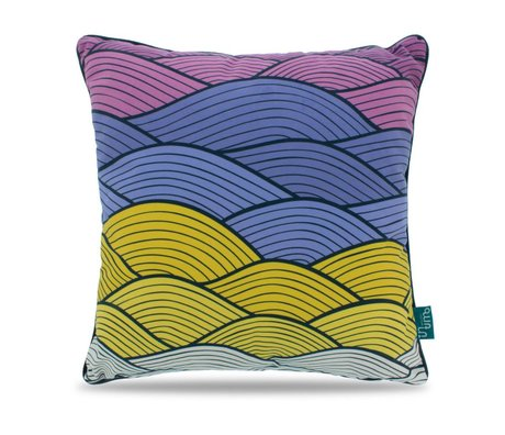 Intimo collection Throw Pillow Soft waves multicolour polyester 45x45cm