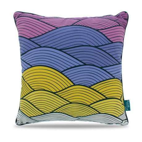 Intimo collection Coussin souple vagues polyester multicolore 45x45cm