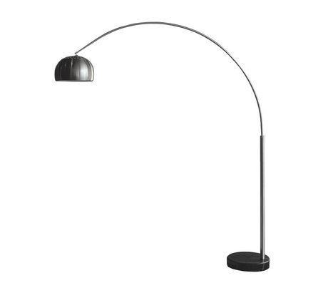 LEF collections Vloerlamp Bow nikkel metaal 35x170x200cm