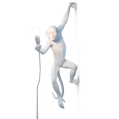 Seletti Applique Le 37x20,5xh76,5cm en plastique blanc Singe