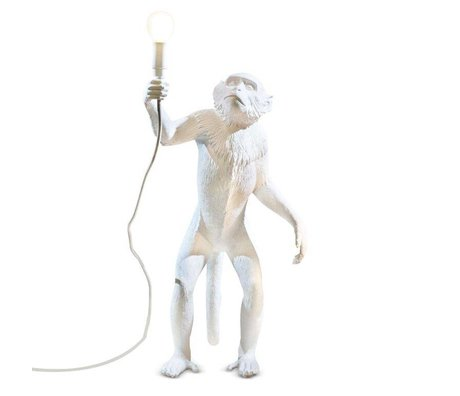 Seletti Tafellamp The Monkey wit kunststof 46x27,5xh54cm