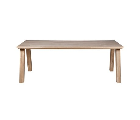BePureHome Almond natural oak dining table 77x220x95cm