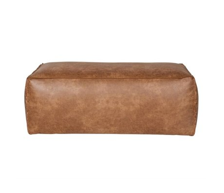 BePureHome Pouf Rodeo cognacbraun Leder 43x120x60cm