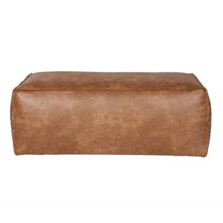 BePureHome Pouf Rodeo cognac 43x120x60cm cuir marron