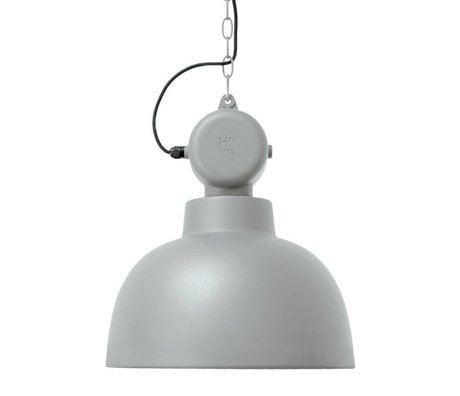 HK-living Hanglamp Factory licht grijs mat MEDIUM metaal Ø40x45cm