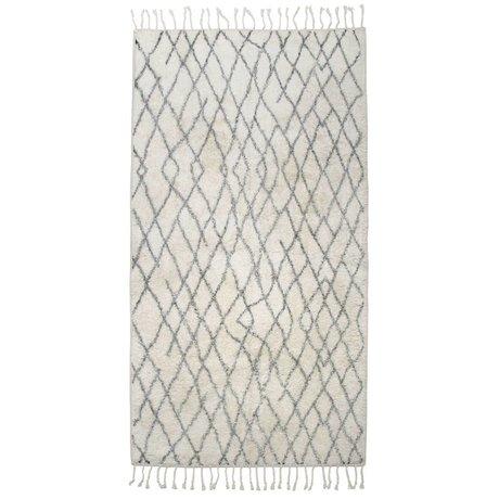 HK-living Carpet mat large checkered 90x175cm