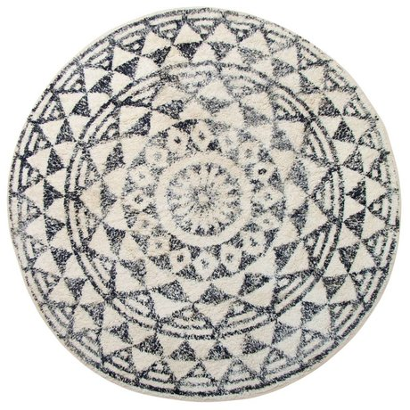 HK-living Carpet mat around large ø120cm
