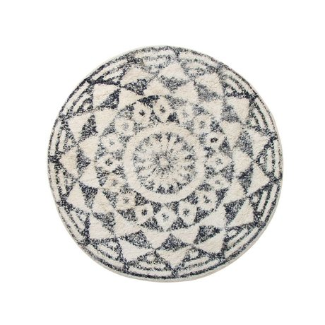 HK-living Carpet mat around medium ø80cm