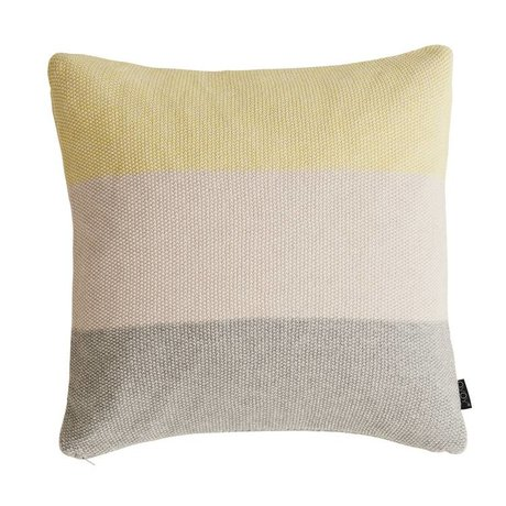 OYOY Cushion PEARL yellow pink gray cotton 50x50cm