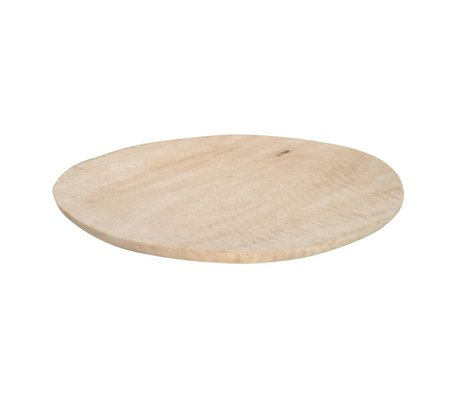 HK-living Plate plate mango wood XL brown ø30-38cm