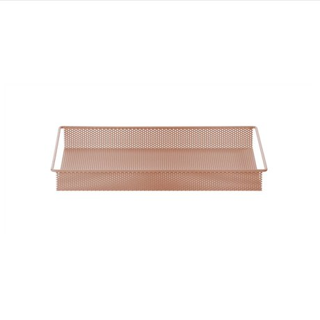 Ferm Living Dienblad / Opberg Tray roze metaal small 32x23x3,8cm