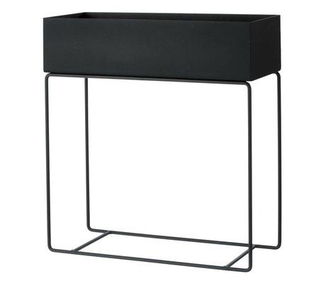 Ferm Living Box für Pflanzen schwarzen Metall 60x25x65cm