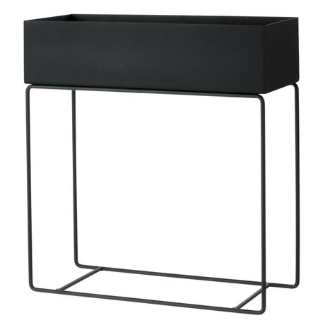 Ferm Living Box for plant black metal 60x25x65cm