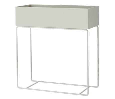 Ferm Living Box pour l'usine de métal gris 60x25x65cm