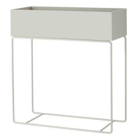 Ferm Living Box for plant gray metal 60x25x65cm