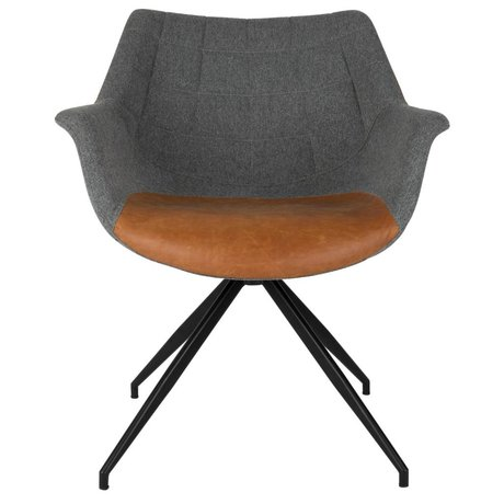Zuiver Eetkamerstoel Doulton Vintage grau braun 67x61x80cm