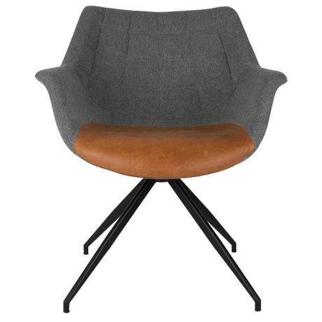 Zuiver Eetkamerstoel Doulton Vintage gray brown 67x61x80cm