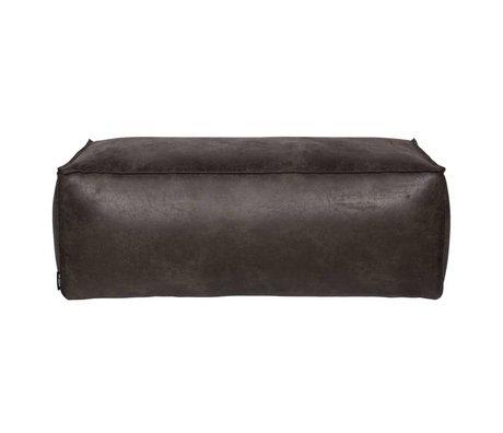 BePureHome Rodeo cuir noir Pouf 120x60x43cm