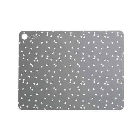 OYOY Placemat LIGHT GREY gray silicone set of two 45x34x0,15cm