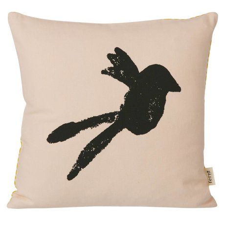 Ferm Living Sierkussen Bird roze 30x30cm