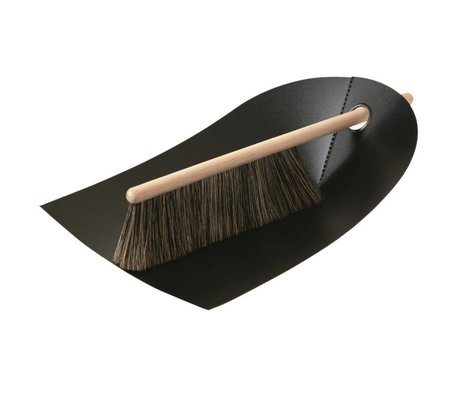 Normann Copenhagen Veger en blik Dustpan & Broom zwart 24x32cm