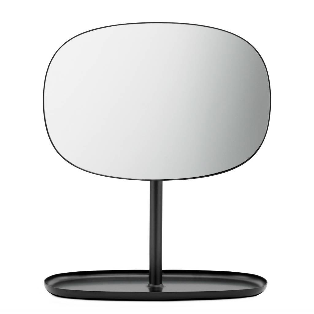 normann copenhagen spiegeltje flip mirror zwart staal 28x19 5x34 5cm. Black Bedroom Furniture Sets. Home Design Ideas