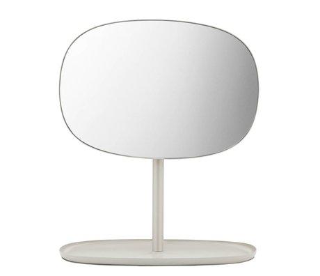 Normann Copenhagen Spiegeltje Flip Mirror zand kleurig staal 28x19,5x34,5cm