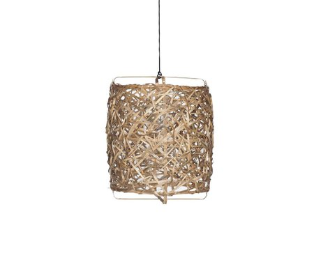 Ay Illuminate Hanging lamp Bird's Nest Natural bamboo medium ø60x77cm
