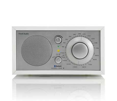 Tivoli Audio Tafelradio One Bluetooth wit zilver 21,3x13,3xh11,4cm