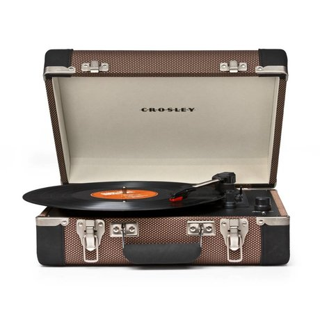 Crosley Radio Crosley Executive tweed zwart 27x36x12cm