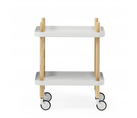 Normann Copenhagen Side Table Block light gray steel timber 35x64x50cm