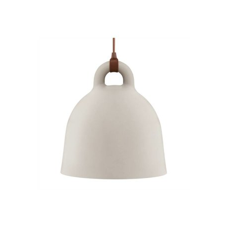 Normann Copenhagen Hanglamp Bell zand bruin aluminium XS Ø22x23cm