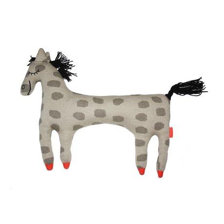 OYOY Hug horse Pippi beige brown cotton 52x9x42cm