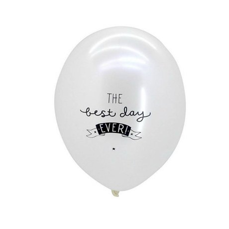 A Little Lovely Company Balloon best day ever weiss 30cm